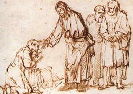 Ein Aussätziger kam zu Jesus